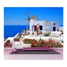 Stickers muraux géant déco : Maison sur mer en Grèce 1473