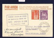 46053) Air France FF Parigi-Rio Brasile 16.9.60, card scheda a partire da Svizzera R!