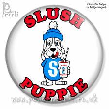 SLUSH PUPPIE ~ Pin Badge or Fridge Magnet [45mm] Retro Sweets