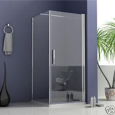 Frameless Pivot Hinge Shower Enclosure Glass Cubicle Door Side Panel Stone Tray