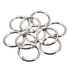 10PC Metal Silver Split Rings Binding Loop Hinged Book Binder Album Key Chain UK