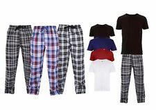 Mens Lounge PJ Pyjamas Sets Night Wear PJ's 2 Piece Pyjama Set