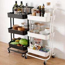 Küchenwagen Rollwagen Servierwagen Küchentrolley Metall für Küche Bad 3 Etagen