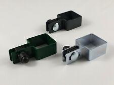 Zaun Endschelle quadratisch mit Zubehör 40x40 50x50 60x60 80x80  für Gittermatte
