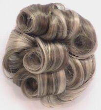 WOMENS CURLY HAIR TOPPER WIGLET PIECE HAIRPIECE HAIRDO UPDO BUN DIAMOND CROWN