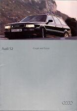 AUDI Coupe s2 & 80 Estate s2 1994-95 UK Opuscolo Vendite sul mercato