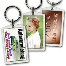 1 - 100 Stück  Foto - Schlüsselanhänger Acryl aus einem Guß ! Werbeanhänger