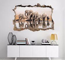 3D Elefanti Squadra 126 Parete Murales Adesivi Decal Sfondamento AJ WALLPAPER IT