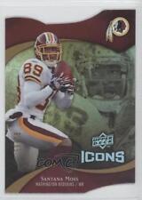 2009 Upper Deck Icons Die-Cut #15 Santana Moss Washington Redskins Football Card