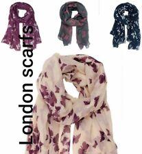 London Scarfs Ladies Women's Fashion Butterfly Print Long  Scarf Shawl