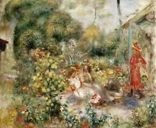 PIERRE-AUGUSTE RENOIR Girls in a Garden in Montmartre BOY friends CANVAS/PAPER