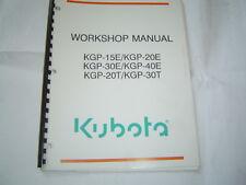 Manuals brochures in brandkubota ebay kubota pump kgp 15e 20e 40e 20t 30t kgp 20t workshop service manual wsm sciox Images