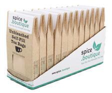 spice.boutique RETAIL Wholesale CARTON, Empty, PLASTIC FREE Self Fill Tea Bags