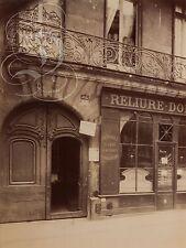 PLAQUE ALU DECO PHOTO EUGENE ATGET BALCON 67 RUE ST JACQUES DE 1905