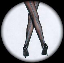 SCONTATO sexy trasparente Calze nere con ampio EGITTO TATTOO motivo