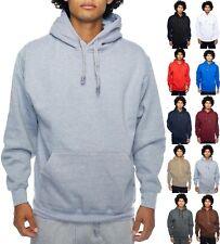 Mens PULLOVER HOODIE Sweatshirt Heavyweight Plain Hooded Shirts Solid Proclub