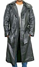 Leather Trench Coat Boys Mens Long Winter Jacket Genuine Lambskin American Size