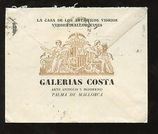 MAJORCA 1941 ADVERTISING ENVELOPE ILLUSTRATED GALERIAS COSTA...ART
