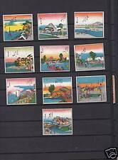 Série  étiquettes  Allumettes Japon Paysages
