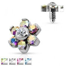 flower crystal Piercing microdermal