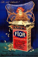 SPIDER WOMAN SOAP FLOR SAVON EN PETALES FRENCH VINTAGE POSTER REPRO