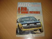 Auto hebdo N°85 Granada 2800 i.Jean Vinatier.Formule 1