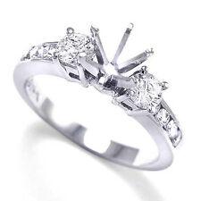 950 Palladium .64CT Diamond Engagement Channel & Prong Setting Semi Mount Ring.