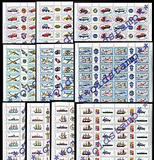 1977-1986 Fogli Costruzioni Navali Aeronautiche Automobilistiche Navi Aerei Auto