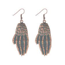 Vintage Bronze Bone Hand Earrings Bohemian Drop Dangle Ethnic Women Earrings