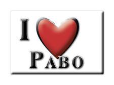SOUVENIR UK - WALES FRIDGE MAGNET UNITED KINGDOM I LOVE PABO (CONWY)