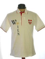 La Camisa Trachtenpolo Shirt Polo Tracht Wappen Wien Stickerei weiß