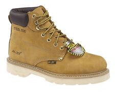 AdTec Mens Tan 6in Steel Toe Work Boot Nubuck