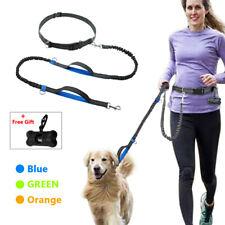 Hands Free Dog Leash for Running Walking Training Hiking Dual-Handle Reflective