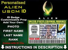 Aliens USCM ID Badge US Colonial Marines Customised Cosplay Prop Comic Con