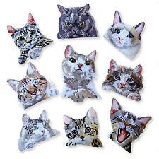 Gran Felino Gatito Cat Lindo Hierro Coser apliques parches bordados en bolsillo