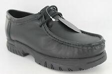 Boys Gass Black Lace-up Leather Shoes UK Sizes 13-6 Brandon
