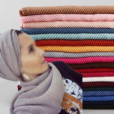 Women's Premium Viscose Maxi Crinkle Cloud Hijab Scarf Shawl Islam Muslim Wraps