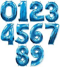 Zahlenballon 0-9 86 cm - 100 cm blau Folienballon Zahl Helium Luftballons XXL