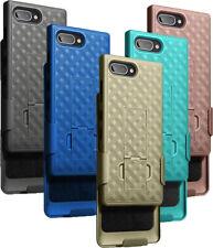 Kickstand Case Slim Ribbed Cover + Belt Clip Holster for BlackBerry Key2 LE
