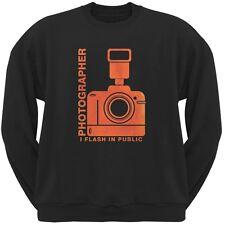 Photographer Flash in Public Funny Black Adult Sweatshirt