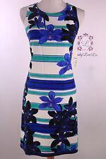 Eliza J Sleeveless Floral Print Shift Dress Blue EJ6M1839 Size 8 NWT