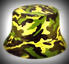 Nuevo sombrero Reversible de Camuflaje Cubo Pesca Ala Camo Gorra de Hombre M/L Todos Los Deportes