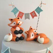 Edible 3D Fox Animals - Cupcake Toppers / Edible Sugar Cake Decoration