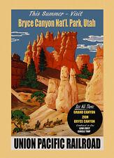 Bryce Canyon National Park Utah Travel Tourism Vintage Poster Repro FREE S/H
