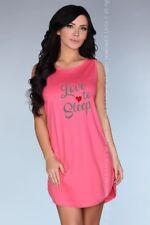 LIvCo Corsetti Schlafanzug Nachthemd Nachtwäsche Calogera Pink S-XL Pyjama Kurz