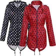 Femmes Spot Imprimé Raincoat Poisson Queue Roulis Up Manche Polyester Mac Veste