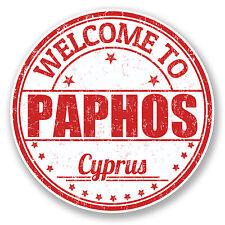 2 x 10cm Paphos Cyprus Vinyl Sticker Decal Travel Luggage Tag Laptop Car #6057