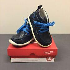 SUPERFIT Boys Kids Donny Blue Lace Up Leather Boots 7-00377-81