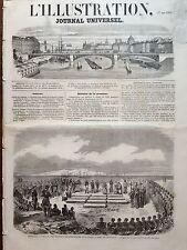 """L'ILLUSTRATION 1858 N 792  OBSEQUES DES VICTIMES DU """" SUFFREN """" A TOULON"""