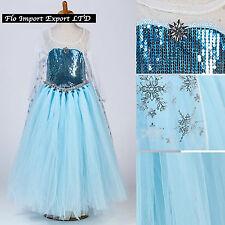 Frozen Elsa Vestito Compleanno Carnevale in Tulle Elsa Girl Cosplay Dress 789049